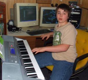 Young Tony using CASIO CTK-4000